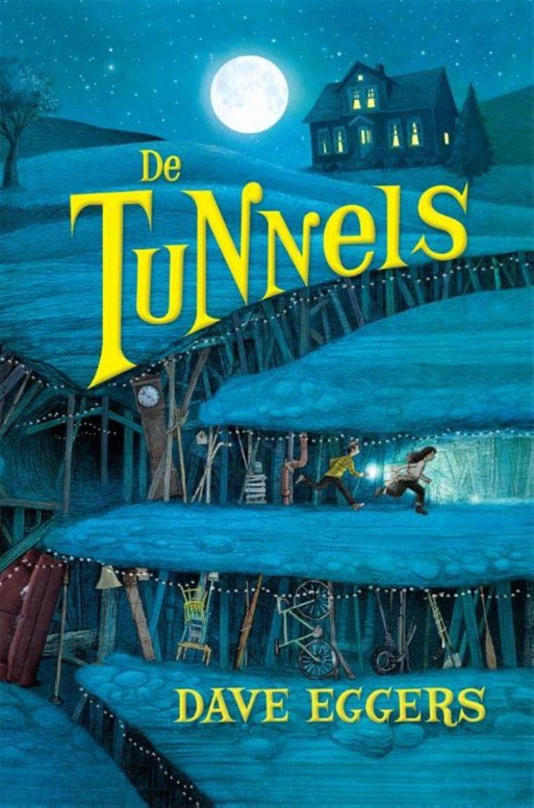Dave Eggers, met illustraties van Aaron Renier, 'De tunnels', Moon, 346 p., 16,99 euro. Vertaling Karin Pijl. 11+ Beeld RV