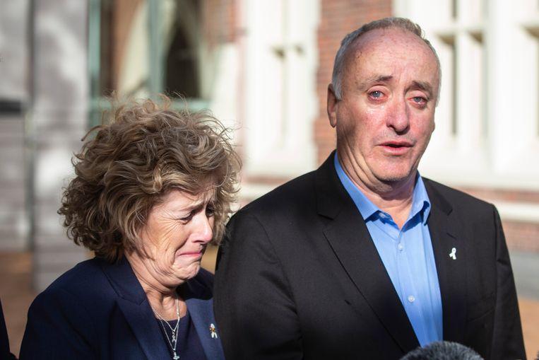 De ouders van Grace, Gillian en Dave Millane na het proces in november.