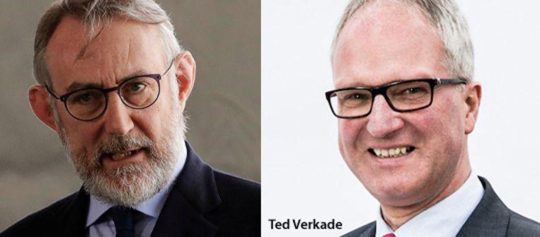 Jean-Francois van Boxmeer (links) en Ted Verkade. Beeld Reuters, Baker Tilly Berk