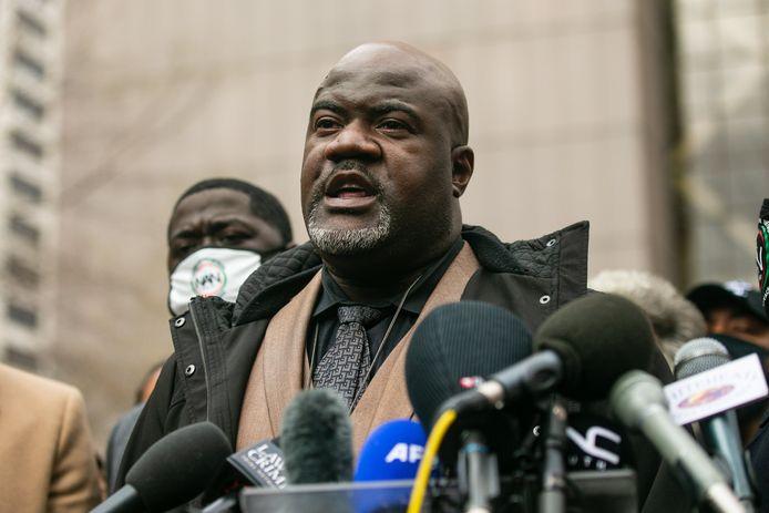 Philonise Floyd, de broer van George Floyd na het vonnis.