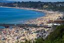 De kuststreek rond Bournemouth kreeg afgelopen weekend nog meer dan 400.000 bezoekers over de vloer.