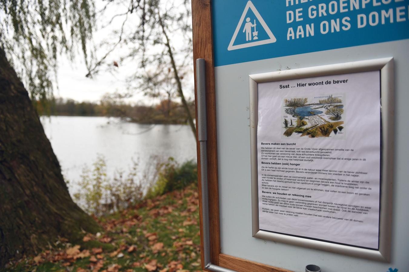 De bezoekers van het provinciedomein in Kessel-Lo krijgen meer informatie over de bever.