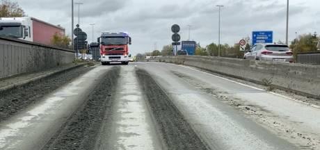 Modderspoor veroorzaakt hinder langs Expresweg