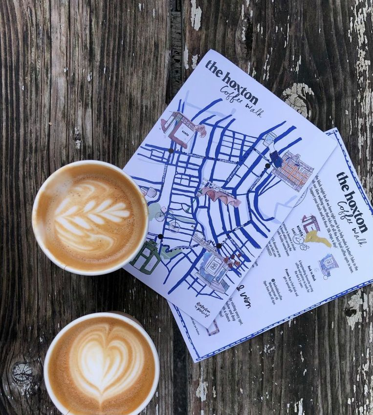 The Hoxton coffee walk. Beeld -