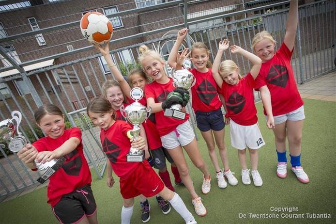 De meiden van de 3-1-heid uit Oldenzaal pakten zilver.
