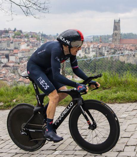 Geraint Thomas na sterke tijdrit winnaar in Ronde van Romandië