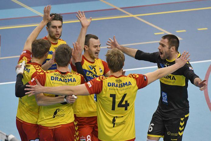 De spelers van Draisma Dynamo beginnen de kampioenspoule als koploper.