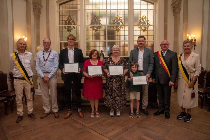 Vier laureaten van de arbeid gehuldigd in Wetteren