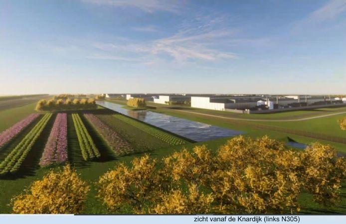 Het datacenter bestaat uit vijf grote hallen van elk een halve kilometer lang.