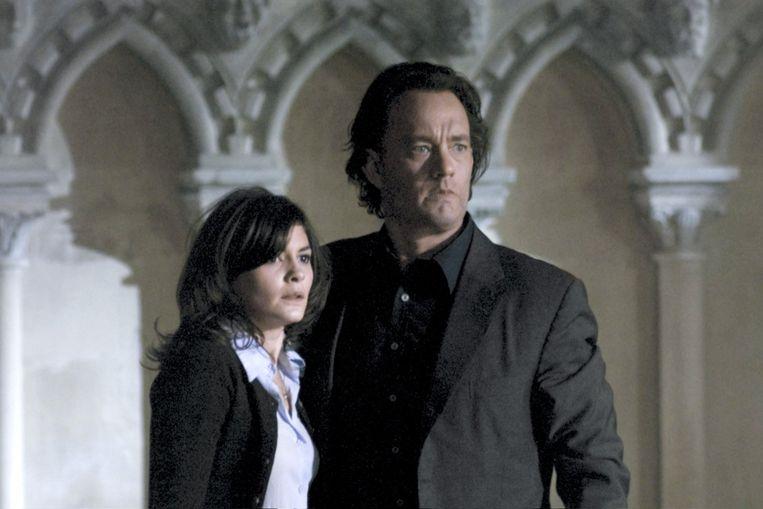 Audrey Tatou en Tom Hanks in The Da Vinci Code. Beeld