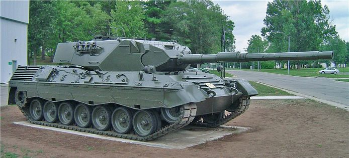 De Leopard-tank zal te zien zijn in het museum.