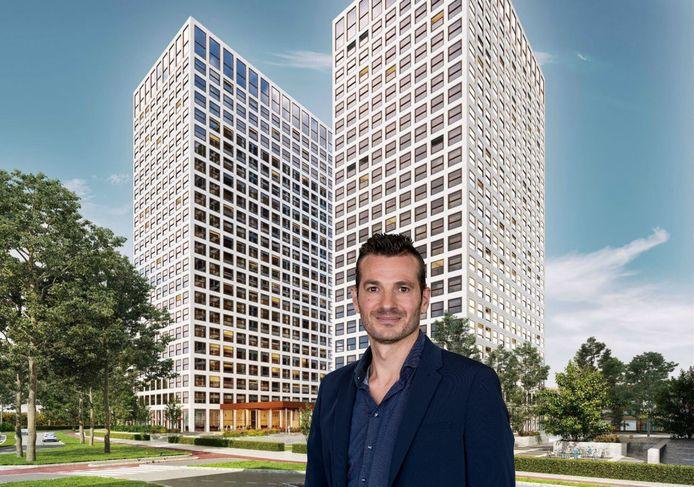 In de Lee Towers in Rotterdam-West zouden woningen voor starters komen, maar nu zitten er appartementen voor expats in de torens.