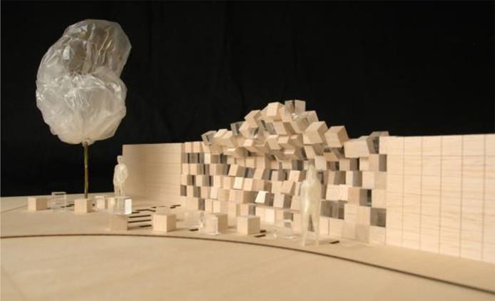 Tussenstop, het ontwerp van PolyLester, de designstudio van Gabriël Lester en Martine Vledder.