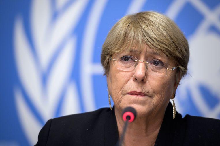 De Hoge Commissaris voor de Mensenrechten van de VN, Michelle Bachelet. Beeld AFP