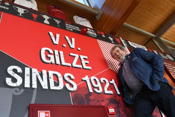 vv Gilze bestaat zondag 100 jaar, ziet ook voorzitter Aimé Cruijsbergs.