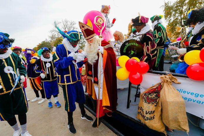 De  intocht van Sinterklaas vorig jaar in Eindhoven.