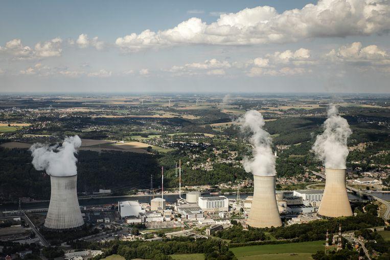 De kerncentrales van Tihange in Hoei. Beeld Pieterjan Luyten