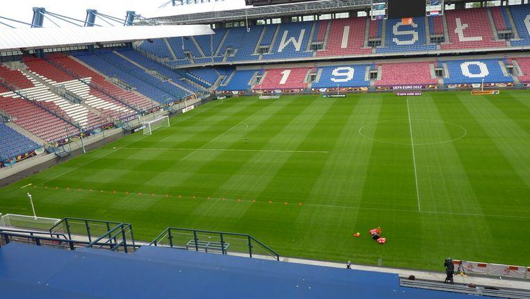 Het veld is in gereedheid gebracht voor de training van Oranje. Beeld Persgroep/BvdL