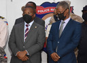Interim-premier Claude Joseph (links) and minister van Verkiezingen Mathias Pierre