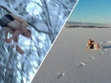 Video van de Dag | Brrr! Deze bijna naakte man springt bij -20 in de sneeuw (en dat doet pijn)