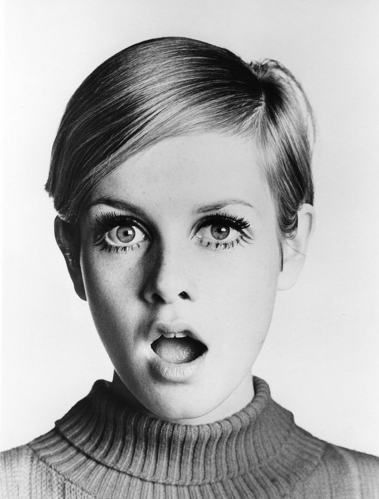 Supermodel Twiggy rond 1967. Beeld Getty Images