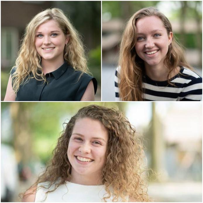 Julia, Roos en Esther doen dit jaar eindexamen.