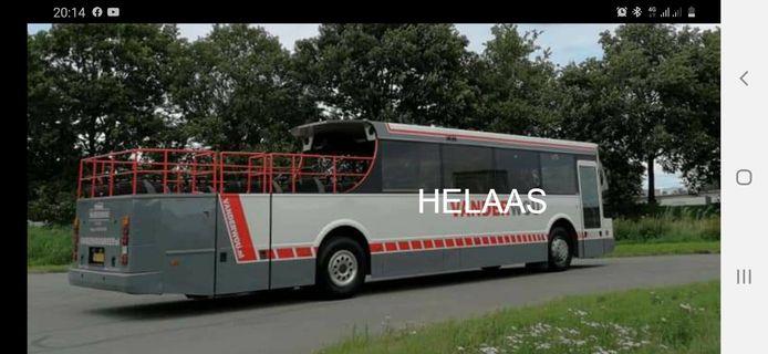 De pietenbus van Sinterklaas blijft op stal.