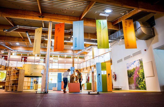 Het startpunt van de interactieve voorstellingen in het Biesboscentrum.