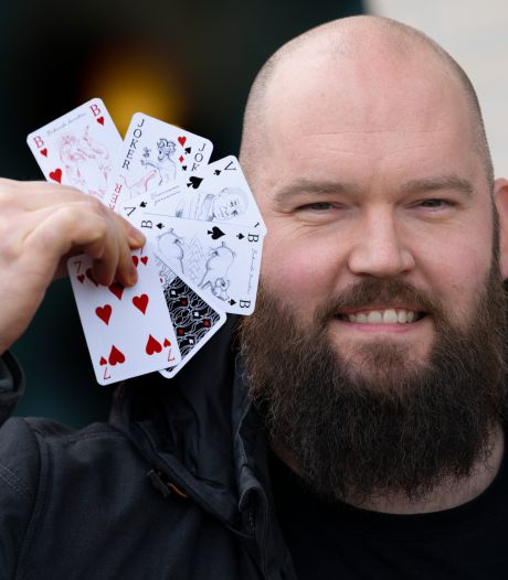 Een Oss' kaartspel met Jan Cunen, Unox-worst en rotonde met zwaard