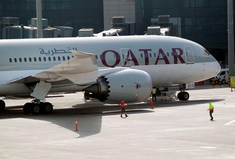 Een vliegtuig van Qatar Airways.  Beeld REUTERS