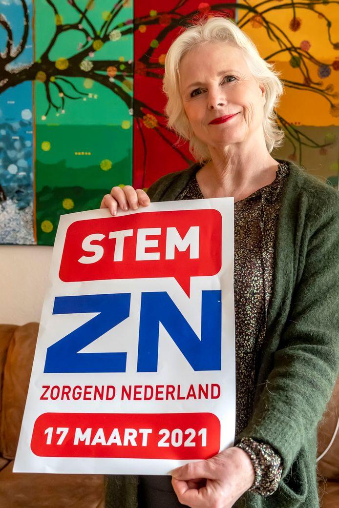Lian Holkenborg is lijsttrekker van  de nieuwe politieke partij Zorgend Nederland. Ze hoopt op vier zetels.