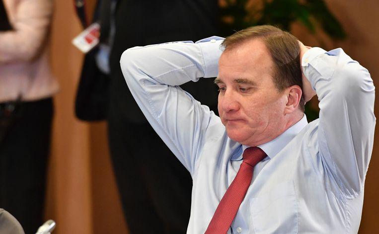 De Zweedse premier Lövfen. Beeld AP