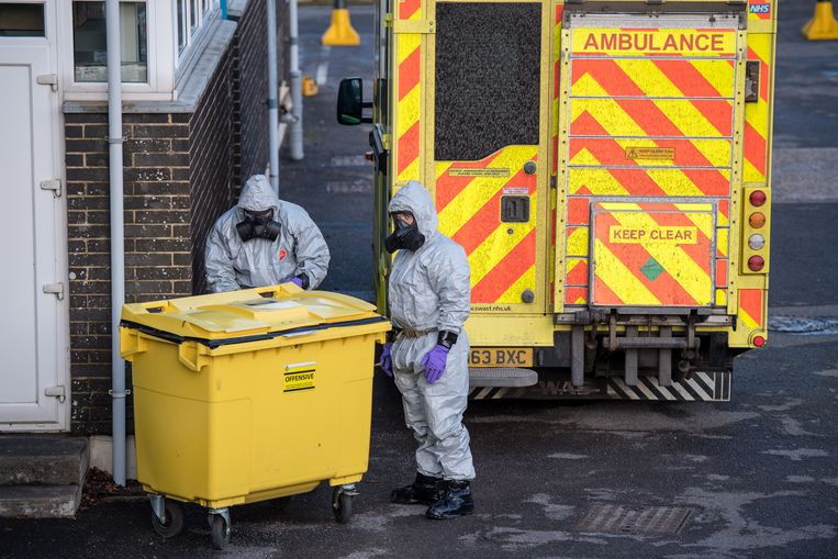Na de vergiftiging met zenuwgif van de Russische dubbelagent Sergej Skripal en zijn dochter hebben onderzoekers sporen van het gas in een restaurant gevonden. De ruimte wordt momenteel onderzocht, meldt de BBC. Beeld Getty Images