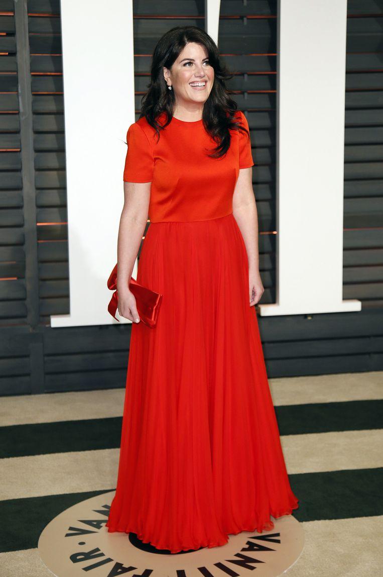 Monica Lewinsky vorig jaar in Beverly Hills tijdens een galafeest van het blad Vanity Fair. Beeld null
