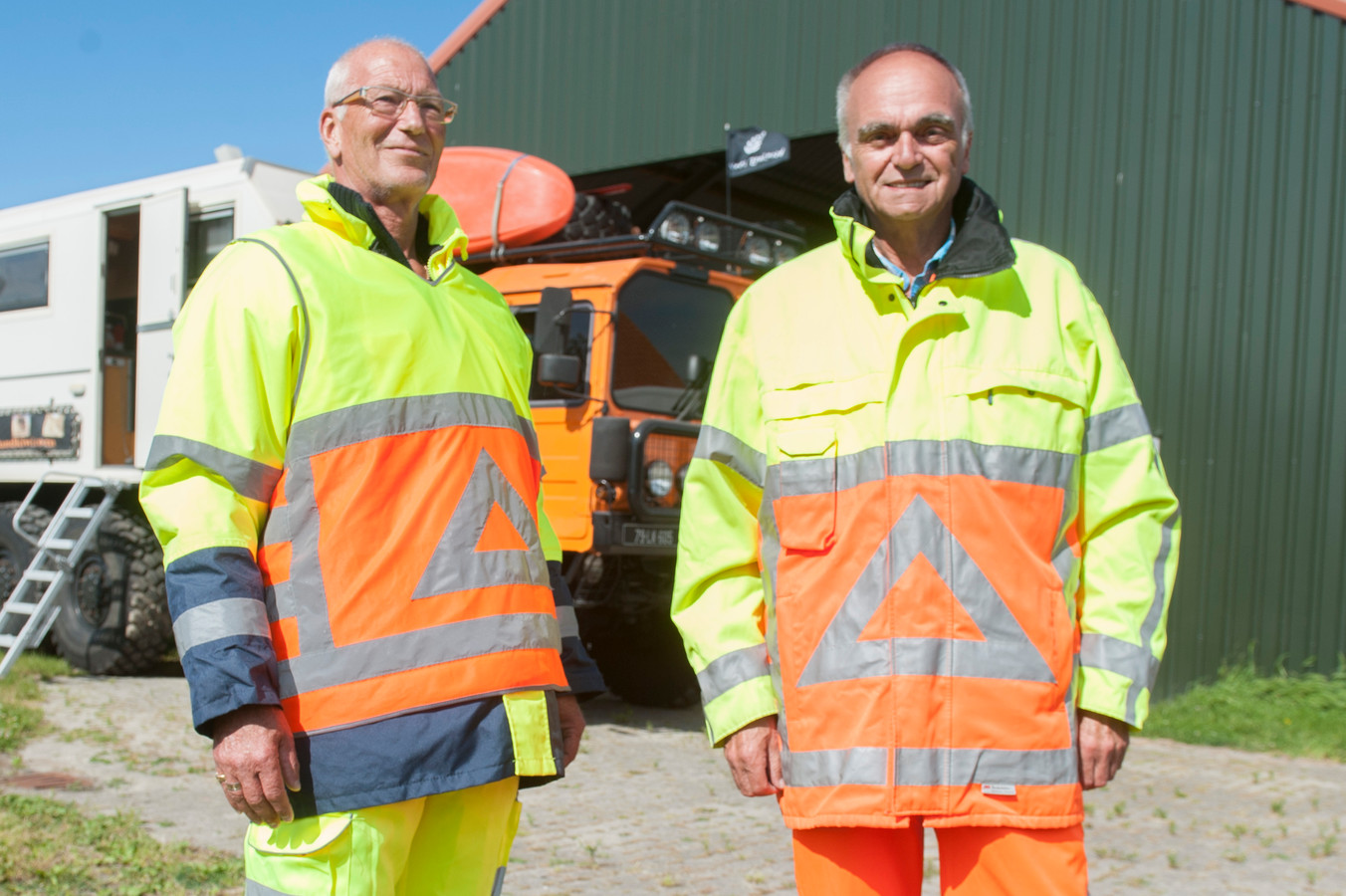 Jan van de Rijt (links) en Gerard Wanders.