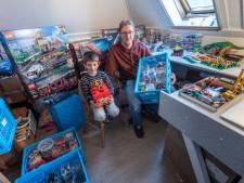 René (39) en Simon (6) uit Baarn hebben 100.000 Legoblokjes en lenen die uit aan andere gezinnen