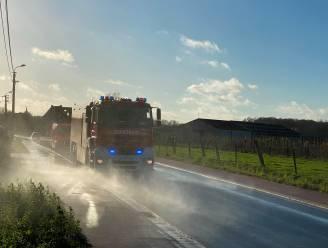 Oliespoor van 2 kilometer tussen Sparrenhof en busbedrijf Patrick Cars