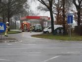 Gaslek tankstation legt verkeer op N348 in Raalte kort stil