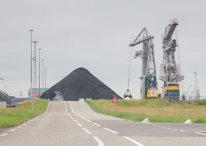 De thermisch gereinigde grond bij Ovet in Nieuwdorp.
