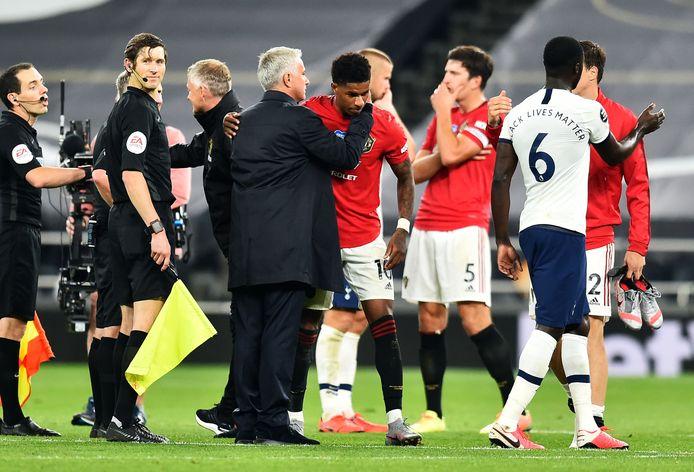 Marcus Rashford en José Mourino werkten in het verleden samen bij Manchester United.