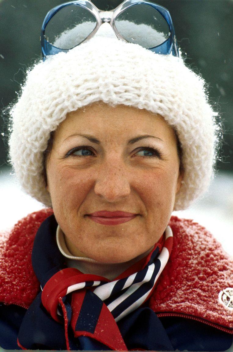 Prinses Margriet tijdens de wintersportvakantie in het Oostenrijkse Zell am See (1980) Beeld ANP
