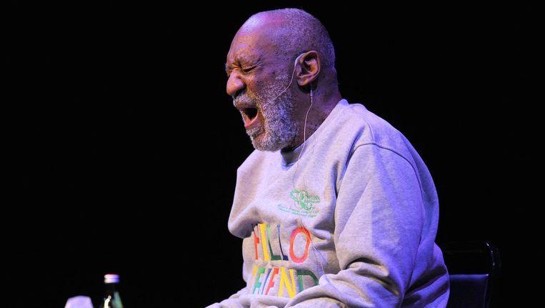 Cosby tijdens zijn optreden, gisteravond in een uitverkocht King Center for Performing Arts. Beeld PHOTO_NEWS