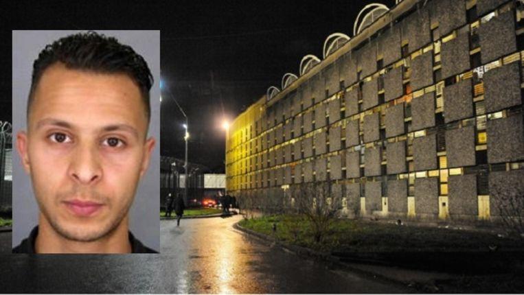 Salah Abdeslam zit in de gevangenis van Fleury-Mérogis. Beeld epa