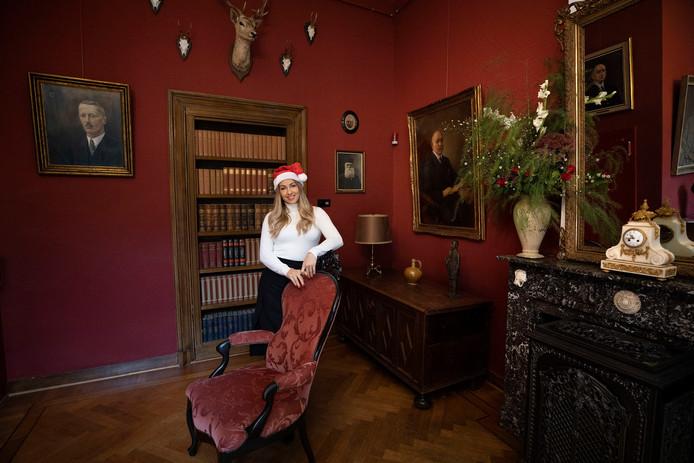 Michelle Miracle is tovert het kasteel om tot verblijfplaats voor de kerstman.