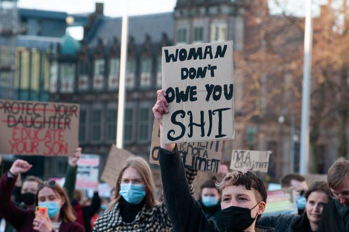 Protest tegen straatintimidatie in Arnhem.