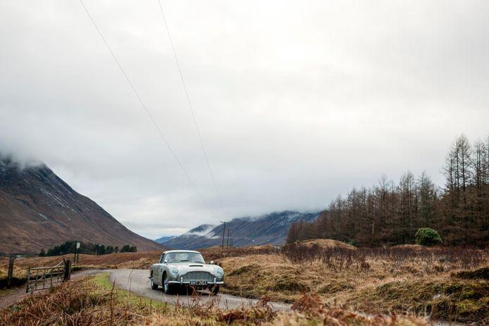 De klassieke Aston Martin DB5 was ook te zien in Skyfall