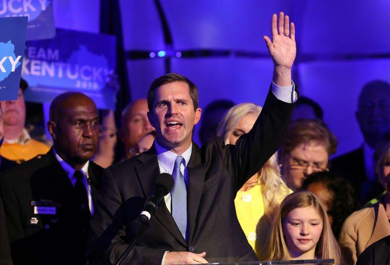 Democraat Andy Beshear versloeg de zittende Republikeinse gouverneur in Kentucky.