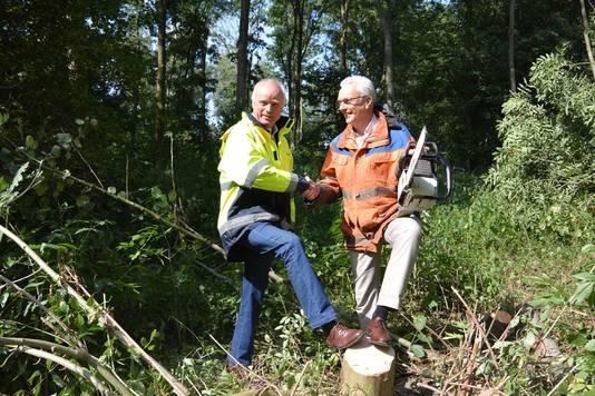 Leisurelands-directeur Erik Droogh en Thermenbaas Hans Dolman.