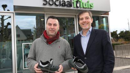 Stad lanceert opvallende schoenenactie in de strijd tegen armoede