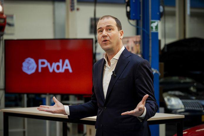 PvdA-leider Lodewijk Asscher bij de publicatie van het verkiezingsprogramma in november.